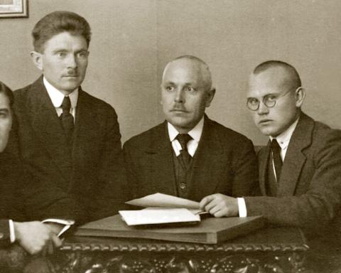 A. Kuum, J. Puskay, M. Krüger, Alfred Tõns ja Voldemar Ojasson