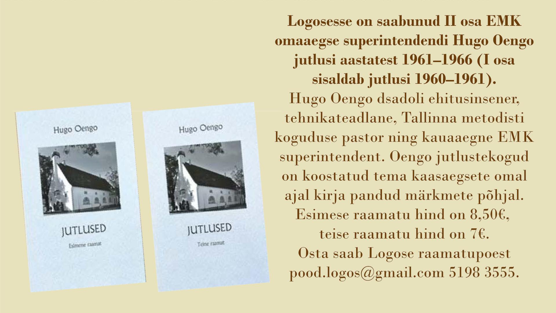 Hugo Oengo jutluste kogu logoses